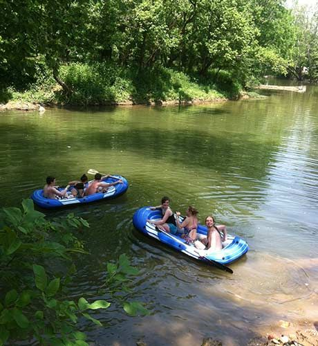 Tubing On Flat River Hidden Paradise Campground Travel
