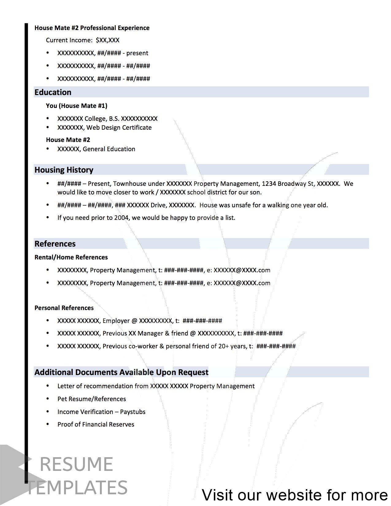 cv template word document Free in 2020 Cv template word