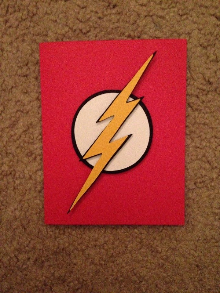 The Flash birthday card used Cricuts Paper Doll Dress up – Flash Birthday Cards
