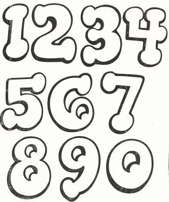 moldes com numeros grandes diferentes para imprimir Mais | Volver a ...