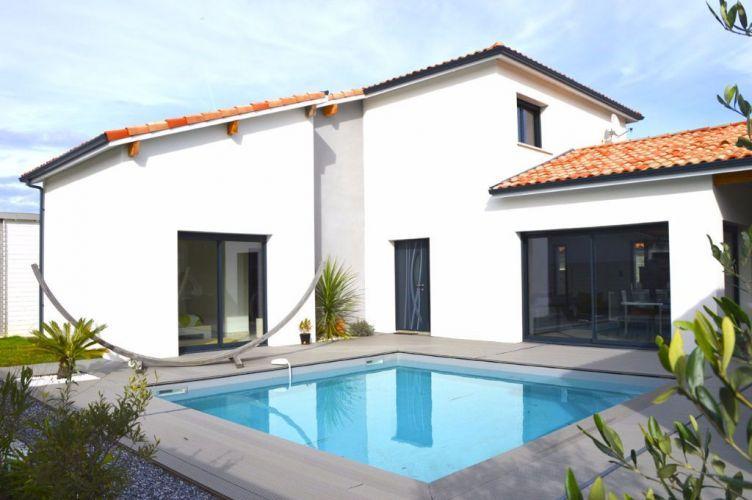 VENTE MAISON CONTEMPORAINE 7 PIECES 152 M2 AVEC PISCINE TOSSE - location maison cap d agde avec piscine