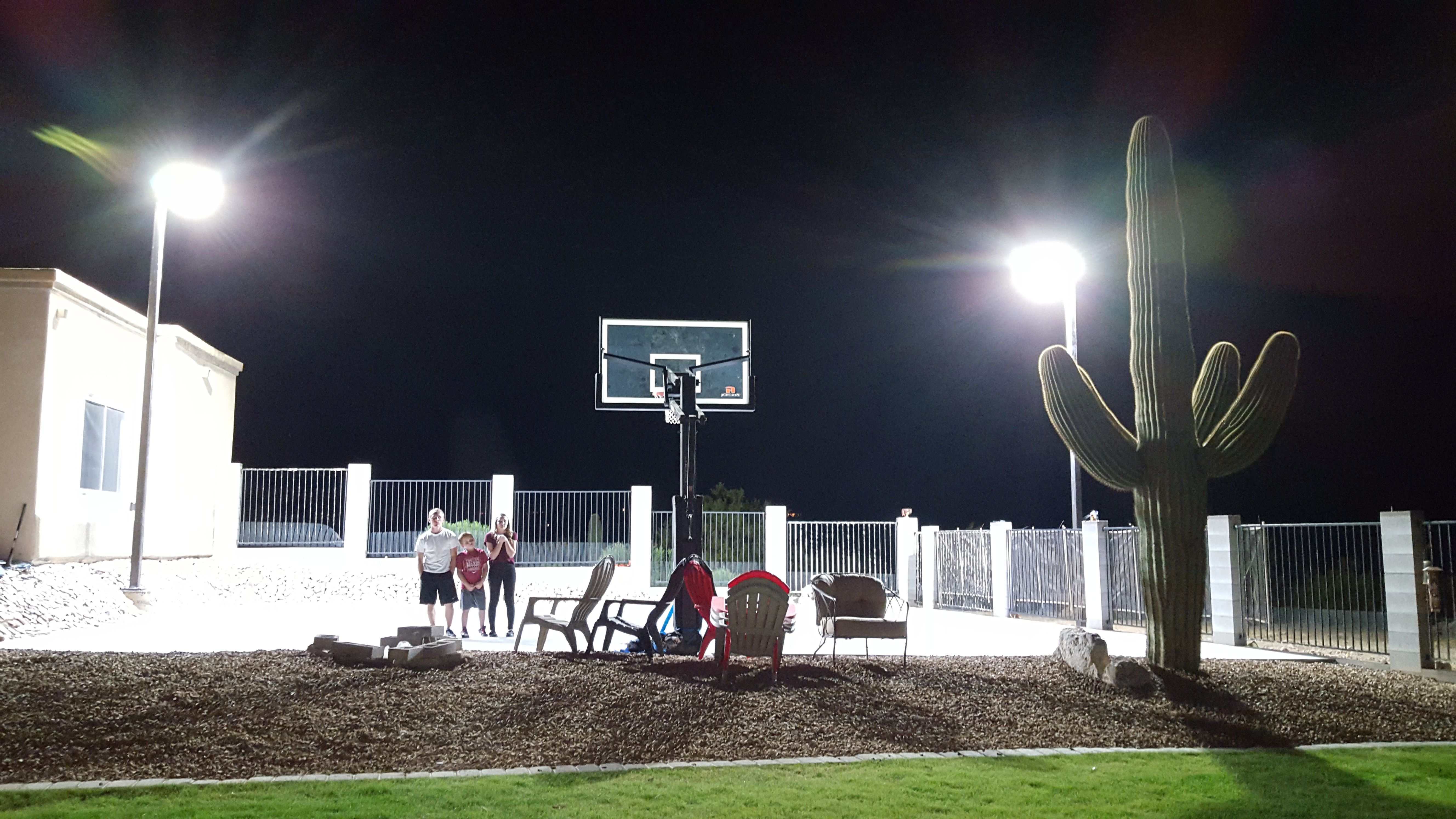 arizona backyard sports court lighting dark sky compliant dark