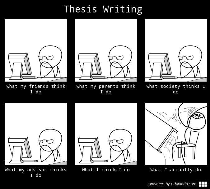 Thesis Writing | Thesis Writing, Writing Humor, Student Humor