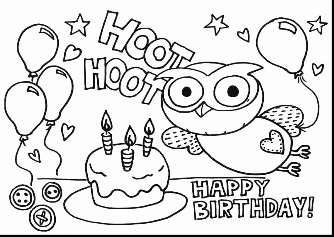 Happy Birthday Coloring Pages Printable Best Of 25 Free Printable