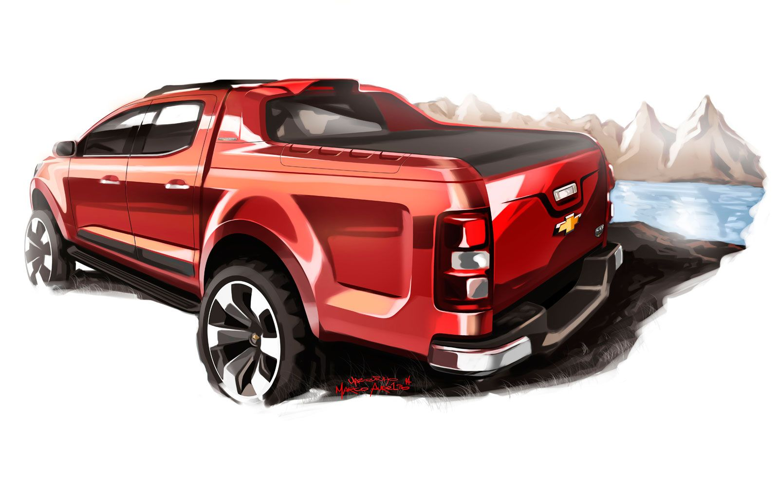 Chevrolet S10 High Country Concept - Design Sketch-03