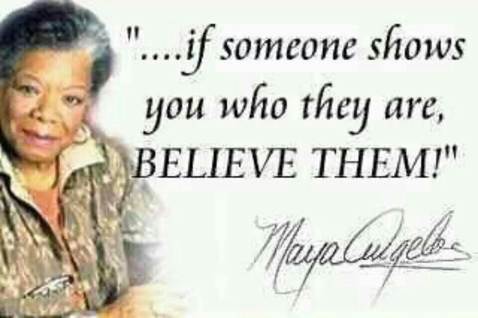I've always believed this.
