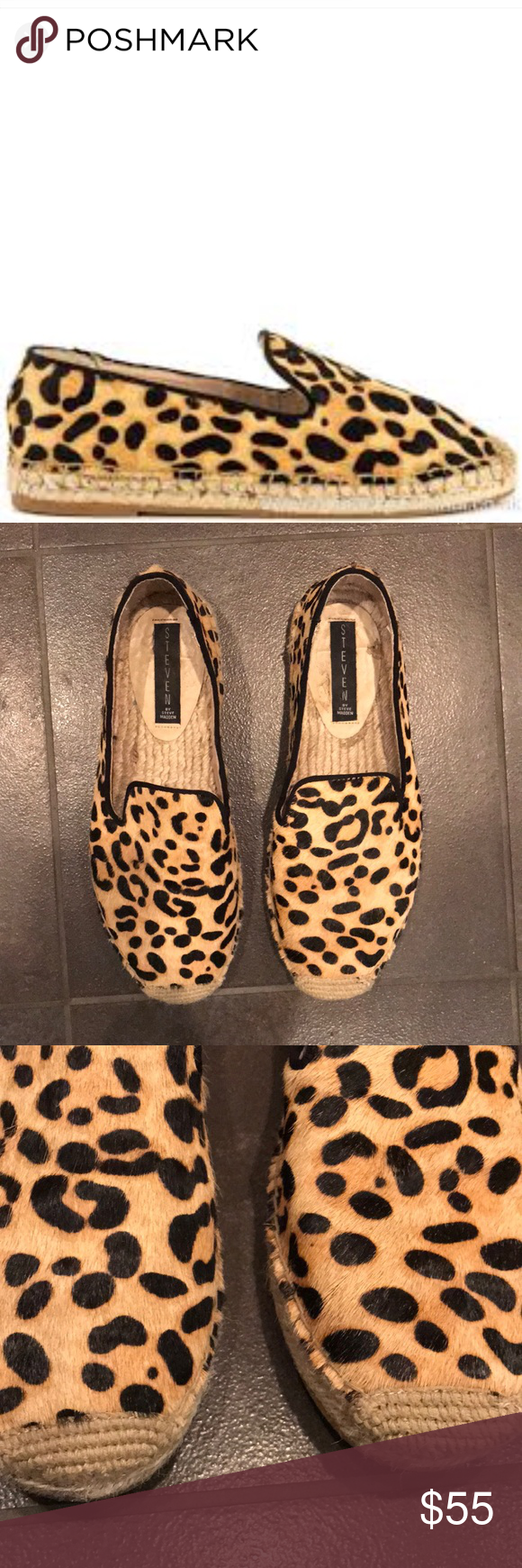 bc5c1176a4f Steven-Steve Madden LAN II Leopard Print Slip On LAN II Leopard print Slip  on Shoe! Great for spring summer!!!! Real calf hair with leather lining!