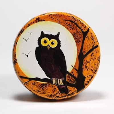 Halloween Owl Rock Painting Designs Rock Painting Patterns Painted Rocks