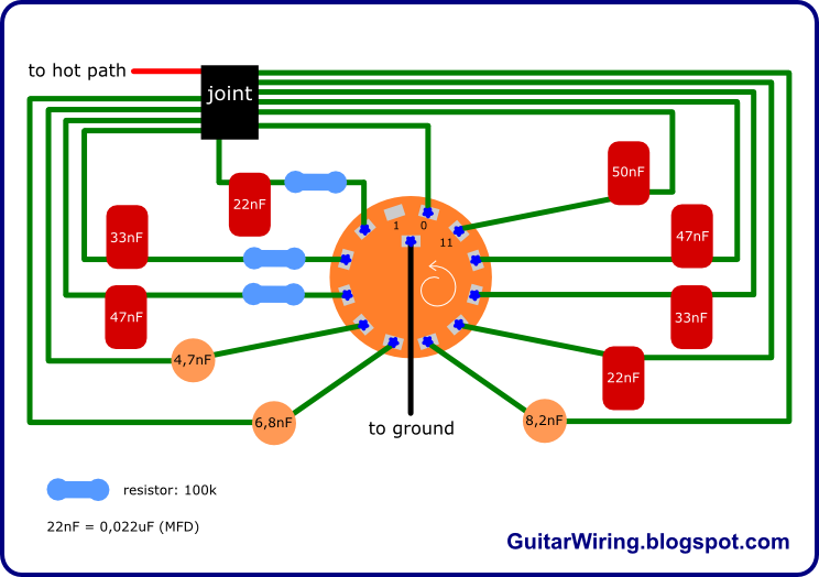 the guitar wiring blog diagrams and tips varitone project mk2 rh pinterest com Varitone Circuit Gibson Varitone Kit