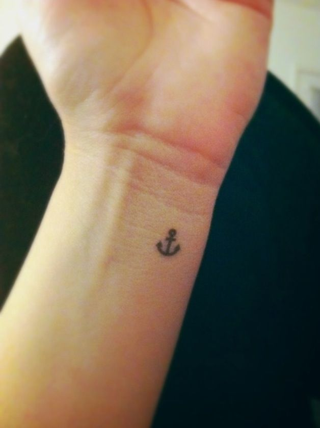 small anchor wrist tattoo ink pinterest anchor wrist. Black Bedroom Furniture Sets. Home Design Ideas