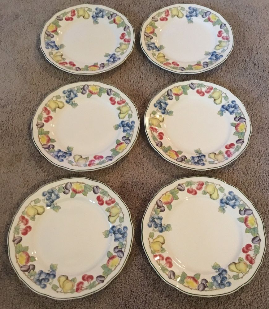 Set Of 6 Villeroy Boch Melina 8 1 4 Salad Dessert Plates Anno