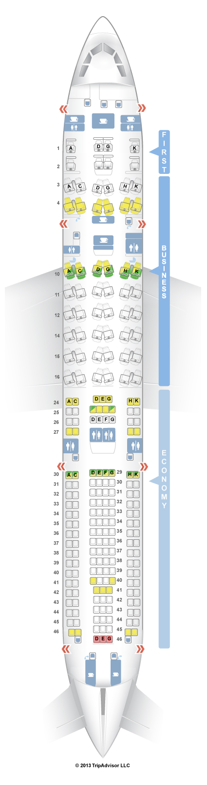 SeatGuru Seat Map Lufthansa Airbus A330-300 (333) V1 - Denver to
