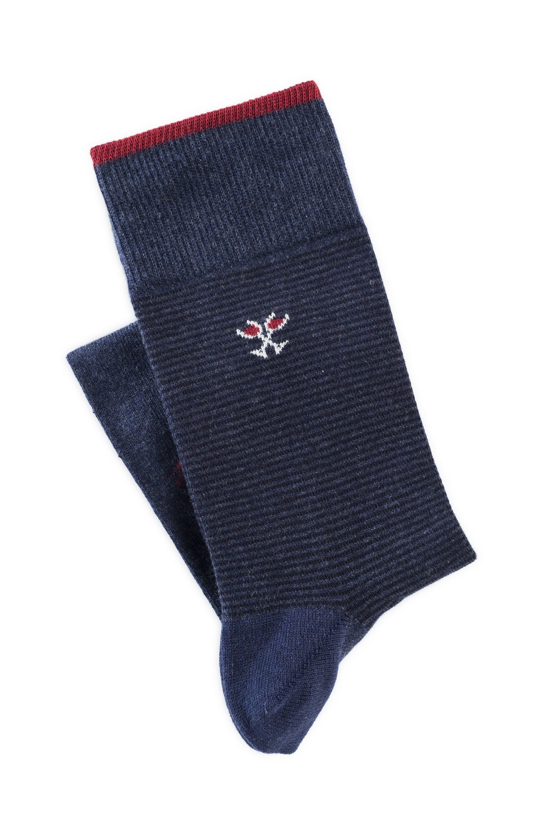 Chaussettes Homme Bleu Marine Made In France Mode Motif