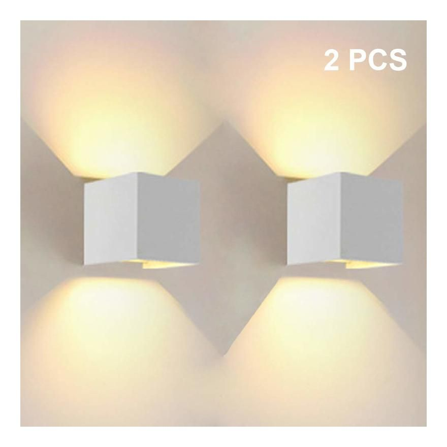 12w Led Applique Murale Interieur Up And Down Lampe Murale Blanc