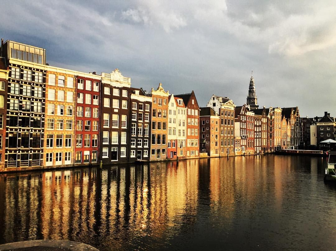 Amsterdam by PearInc #iamsterdam #canal #reflections #oldcity #city #dutchskies #holland #pictureofday
