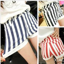 Online Shop Princess all-match vertical stripe high waist shorts female casual shorts