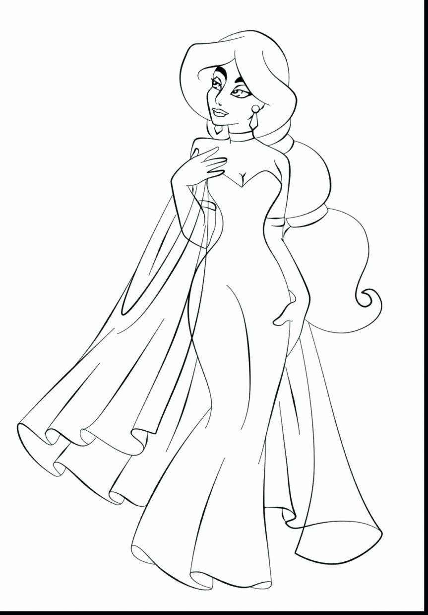 Disney Princess Jasmine Coloring Pages New Dress Coloring Pages