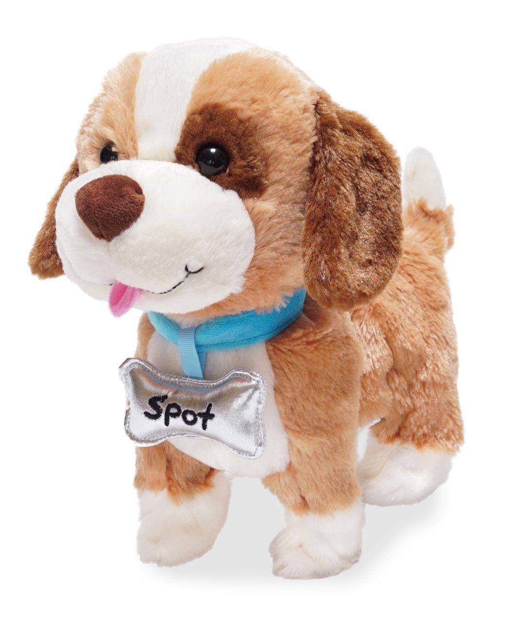 Cuddle Barn Talks And Walks Plush Toy 10 Inches Dog My Favorite