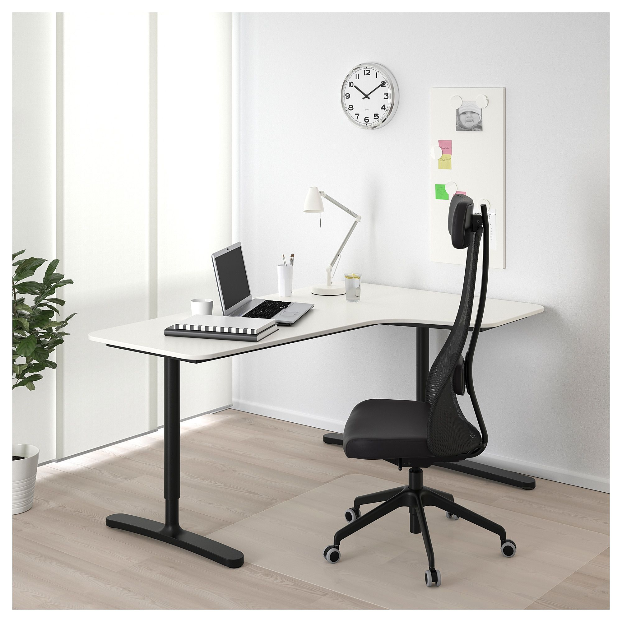 Bekant Corner Desk Right White Black Ikea In 2020 Ikea Bekant Ikea Bekant Desk Ikea