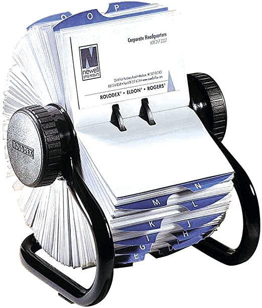 Amazon Com Rolodex Open Rotary Business Card File With 200 2 5 8 By 4 Inch Card Sleeve And 24 Guide 400 Card Cap Black 6723 Rolodex Card Files Card Sleeve