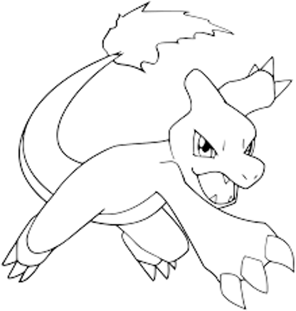 Charmeleon Coloring Pages Pokemon Coloring Pages Pokemon Coloring Pokemon Sketch