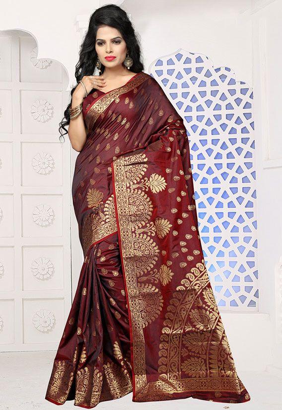 Brown Jute silk with cotton tussels attached Saree and blouse for women,saree for women,saree dress,wedding saree,indian saree,sari,saris