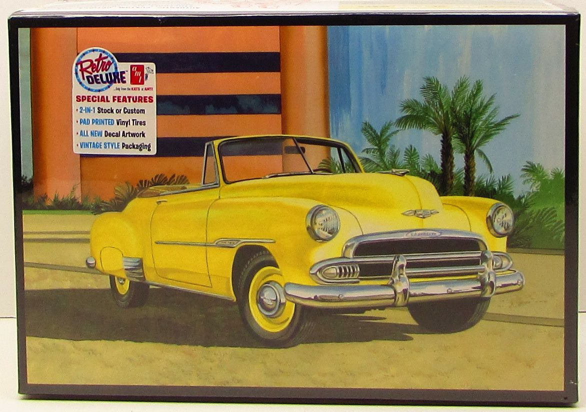 Coupe 1951 chevy coupe parts : AMT 1951 Chevy Convertible Sun Cruiser 1041 1/25 New Plastic Model ...