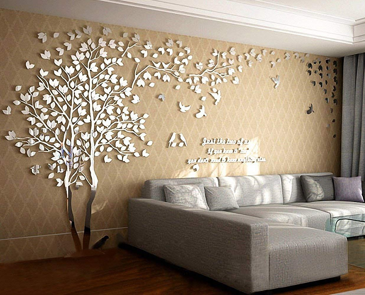 n sunforest 3d crystal acrylic couple tree wall stickers on wall stickers 3d id=67792
