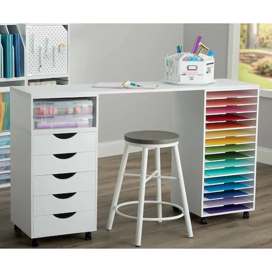 Modular Mobile Chest By Simply Tidy Ikea Craft Room Craft Room Tables Craft Tables With Storage