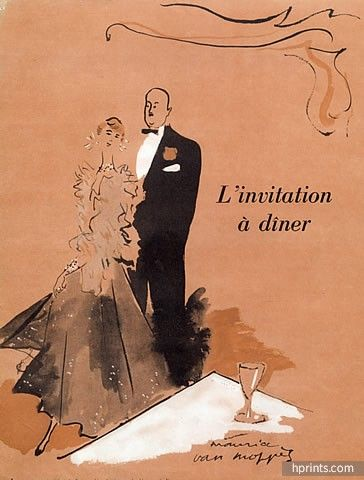 Maurice Van Moppès 1950 Chez Maxim's, Elegant Parisienne