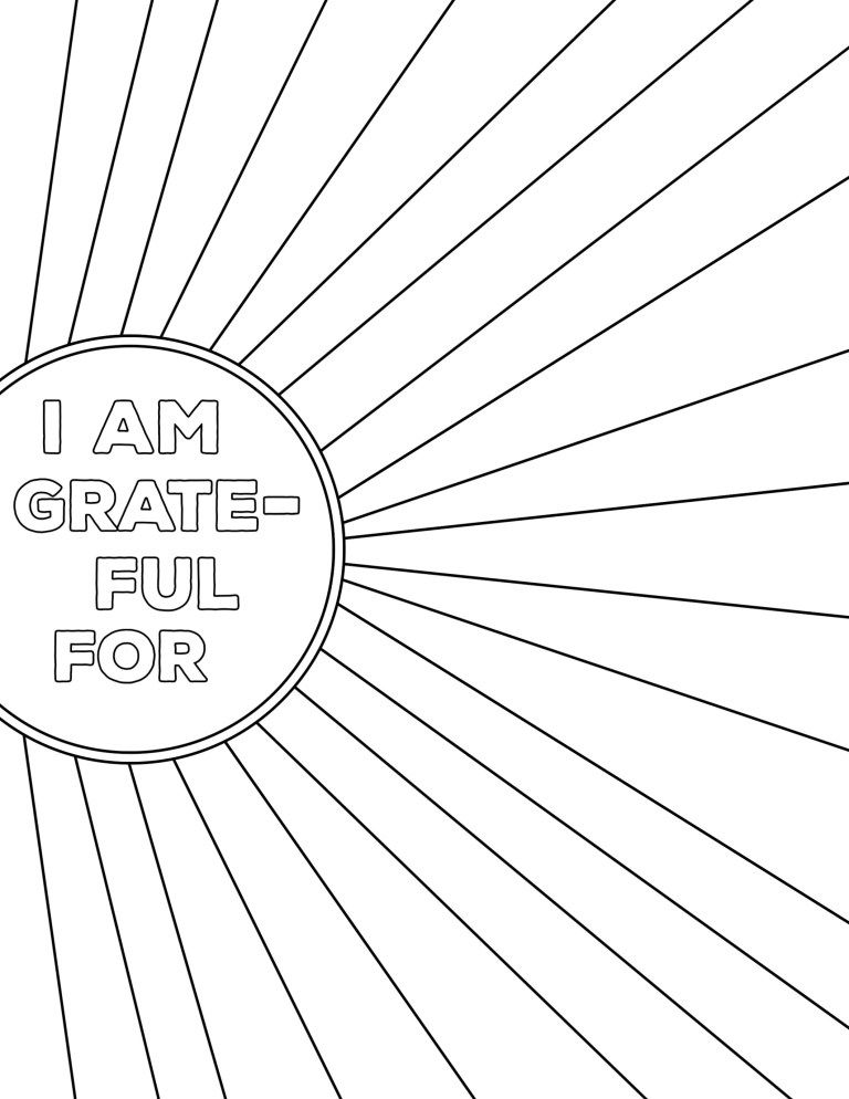 I Am Thankful for Worksheet Free Printable in 2020