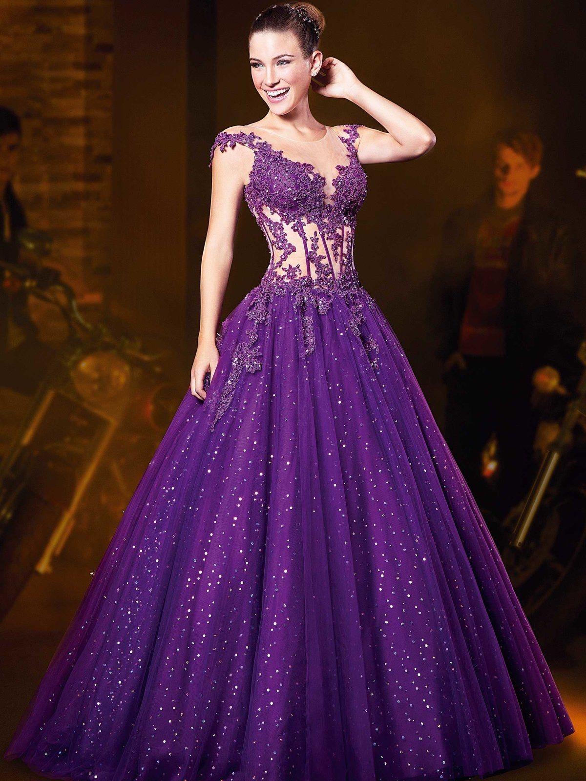 Красивые пышные вечерние платья фото