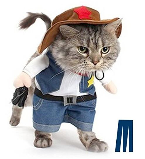 Quirky Finds 10/4/17 -- Cowboy Cat Costume http://www.mashupmom.com/quirky-finds-10417-cowboy-cat-costume/