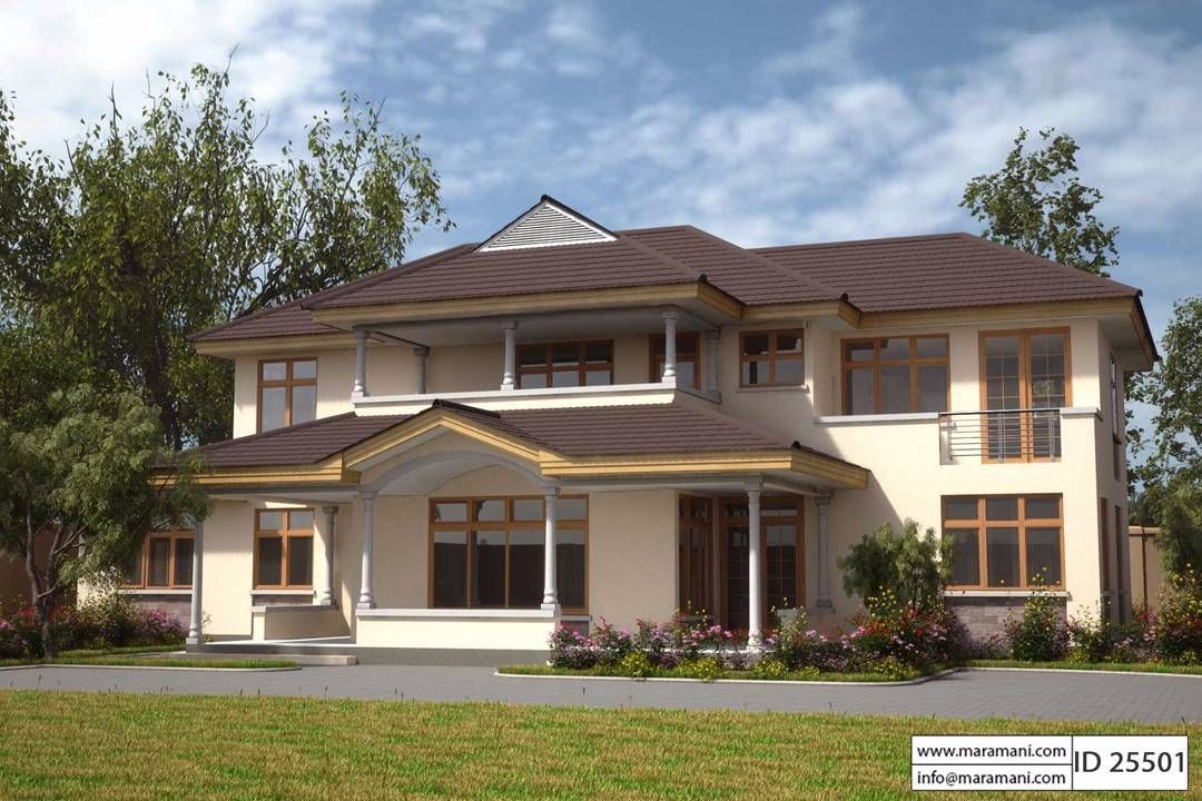 Stately Crafted And Welcoming This Thrilling Home Will Be A Family Treasure For Generations Bedroom House Plans 5 Bedroom House Plans Contemporary House Plans
