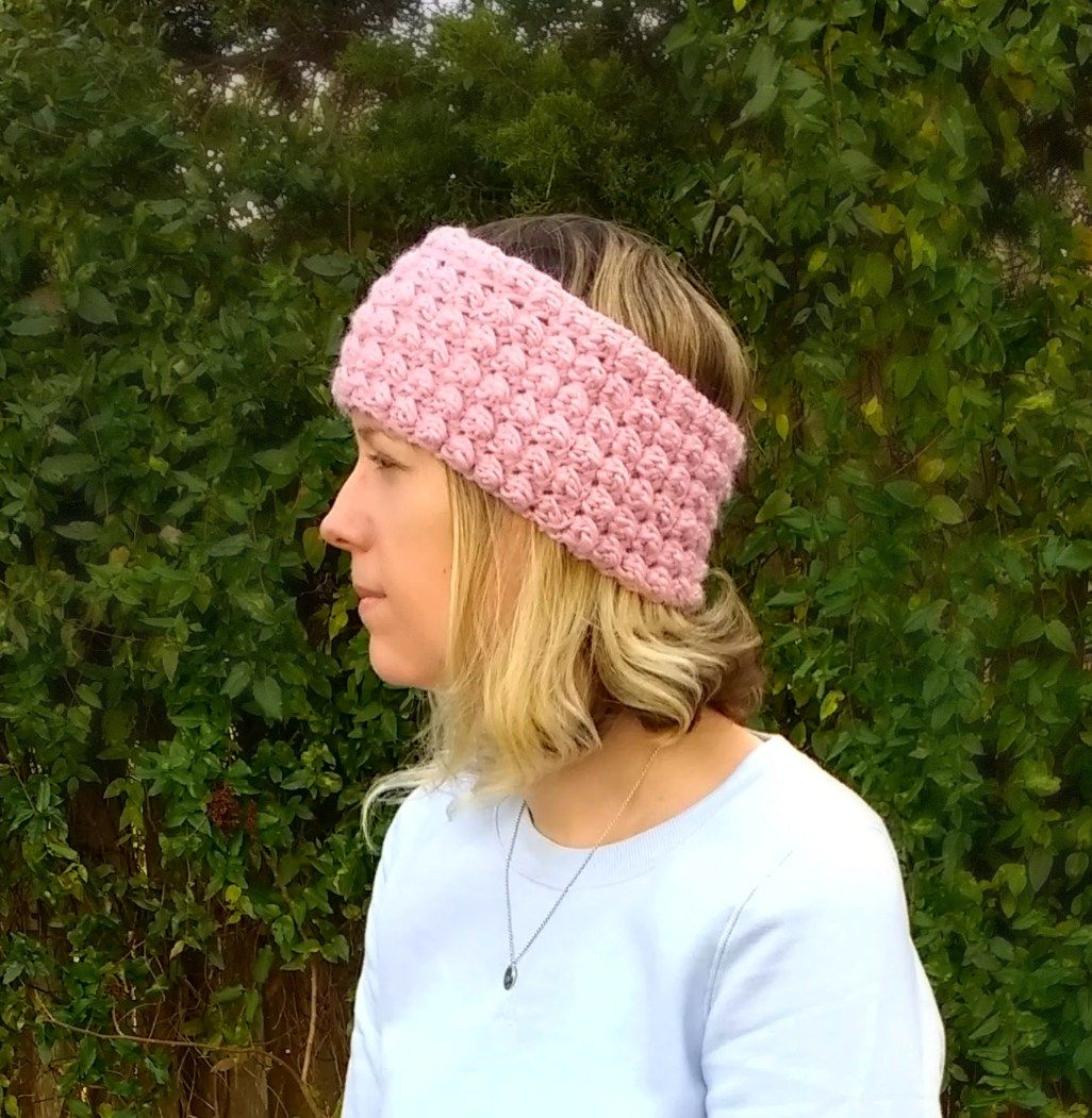 Crochet Berry Stitch Ear Warmer - A free pattern by | Free pattern ...