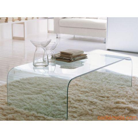 Tonin Casa Anemone 6850 Table Basse Transparente Table De