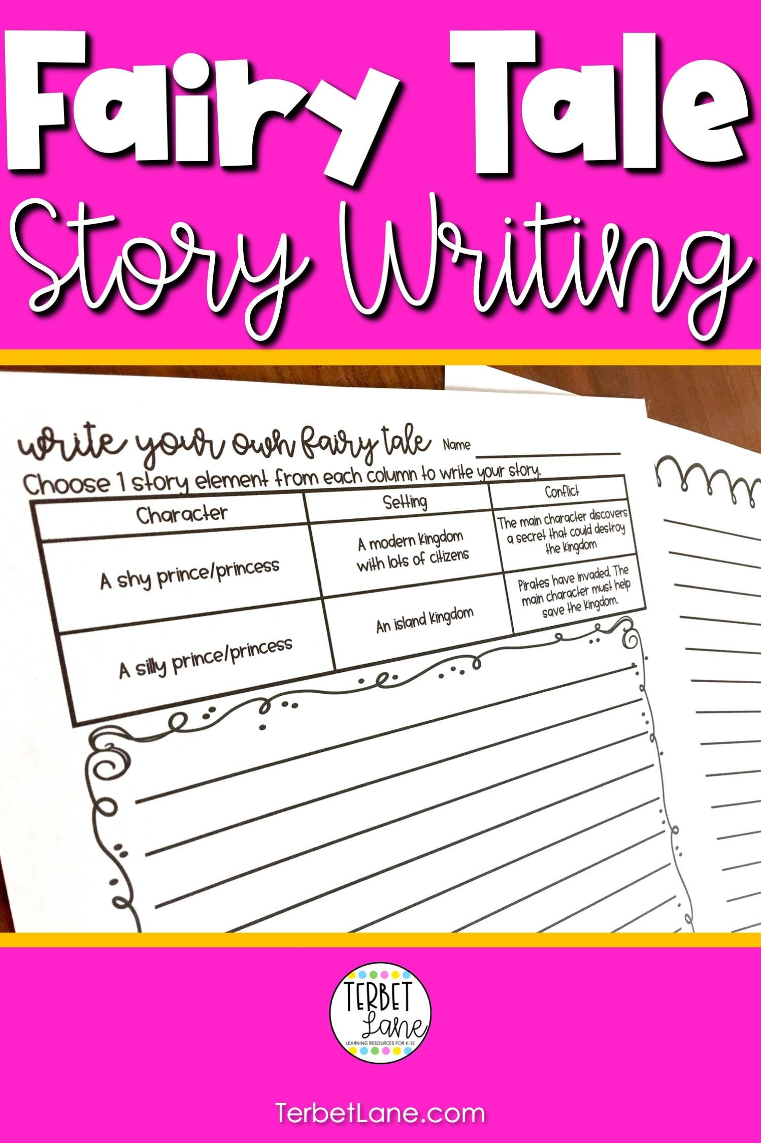 Fairy Tale Writing Pages Distance Learning In
