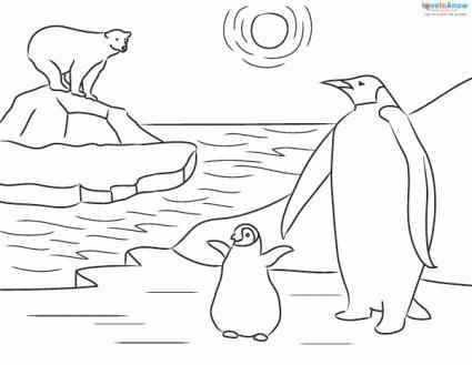 Emperor Penguin Coloring Page For Kids Penguin Coloring Pages