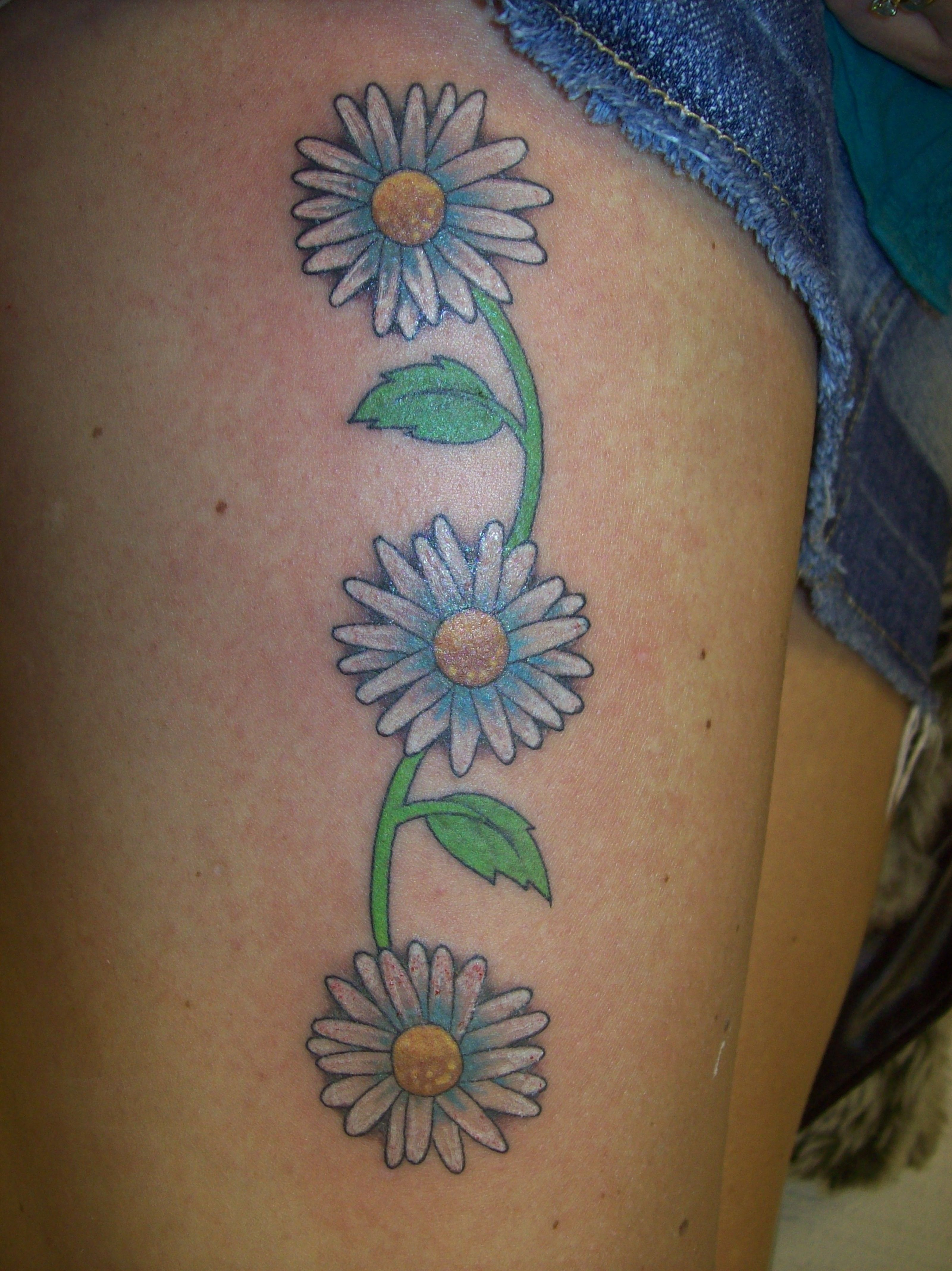 Blue daisy tatw theres an idea tattoos pinterest daisy tattoos and meanings daisy tattoo designs and ideas daisy tattoo pictures izmirmasajfo Image collections