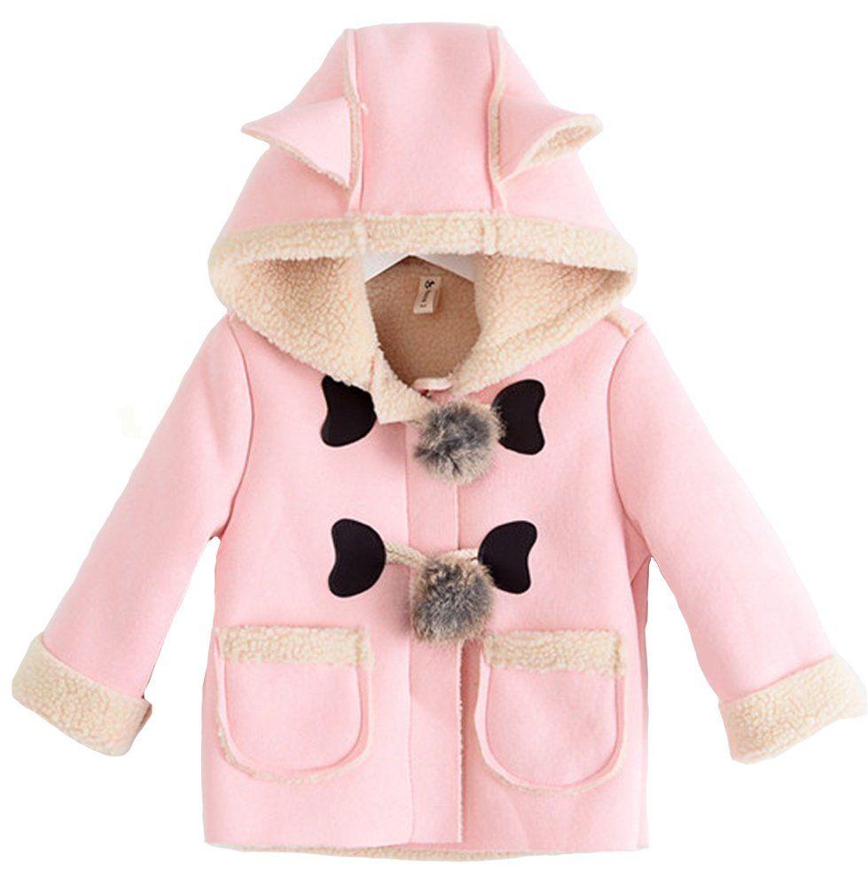 2586dca4b CRB Little Boys Girls Toddler Baby Animal Ears Jacket Top Sherpa ...