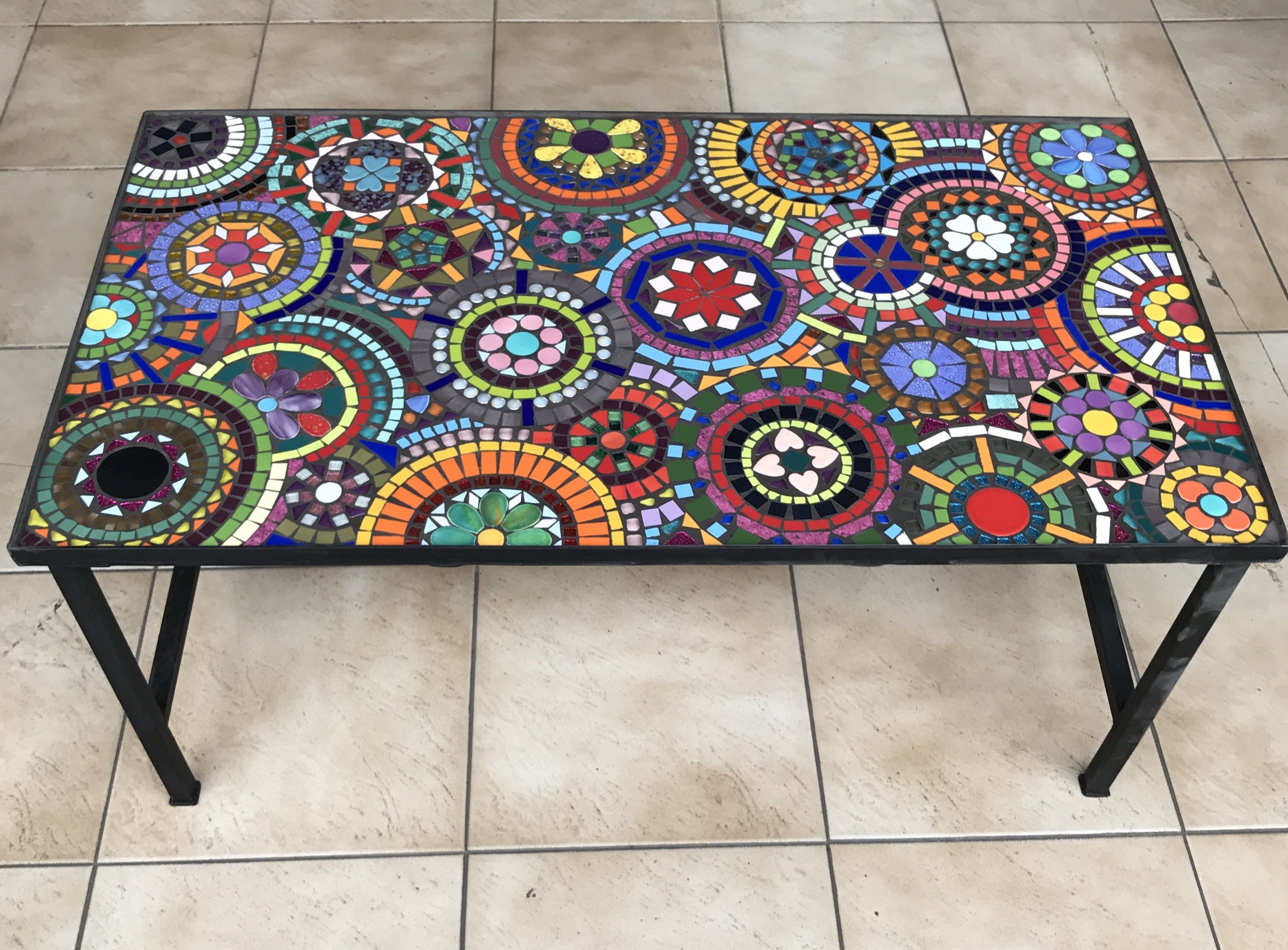 Mesa mosaico rectangular. 90x50x40. #bchmosaicos #mosaic #mosaico ...