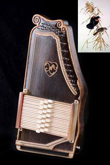 Ray Choi Autoharp, The Blackbird. I like the carving he does on his autoharps.
