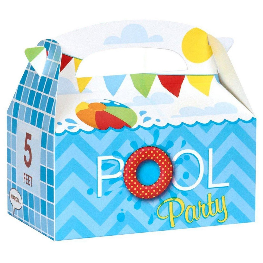 8 ct Splashin' Pool Party Favor Boxes