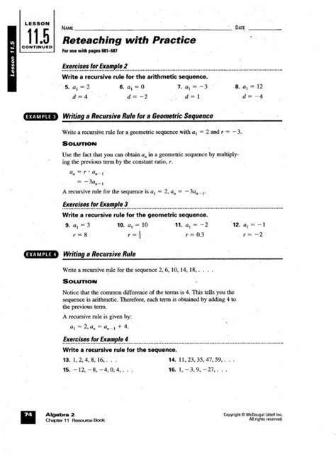 Sequences And Series Worksheet Answers 15 Kuta Software Infinite Algebra 2 Arithmetic Series In