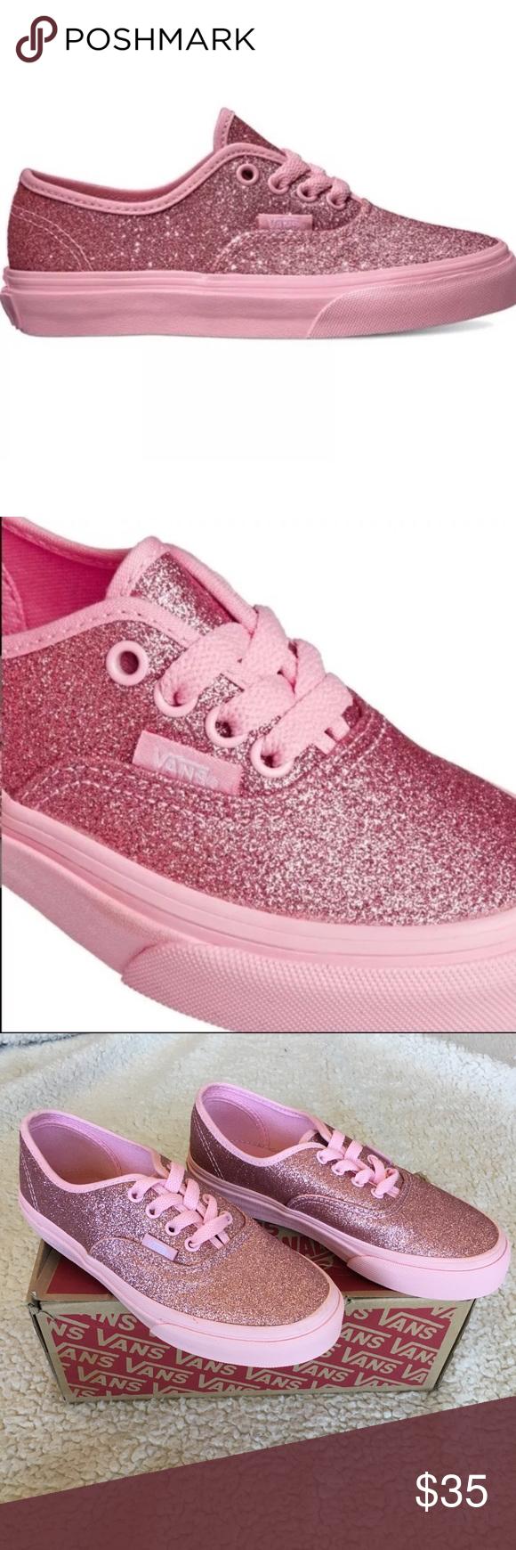 NIB Girls 2.5 Vans Authentic Glitter NIB Girls 2.5 Vans Authentic 2e2492101