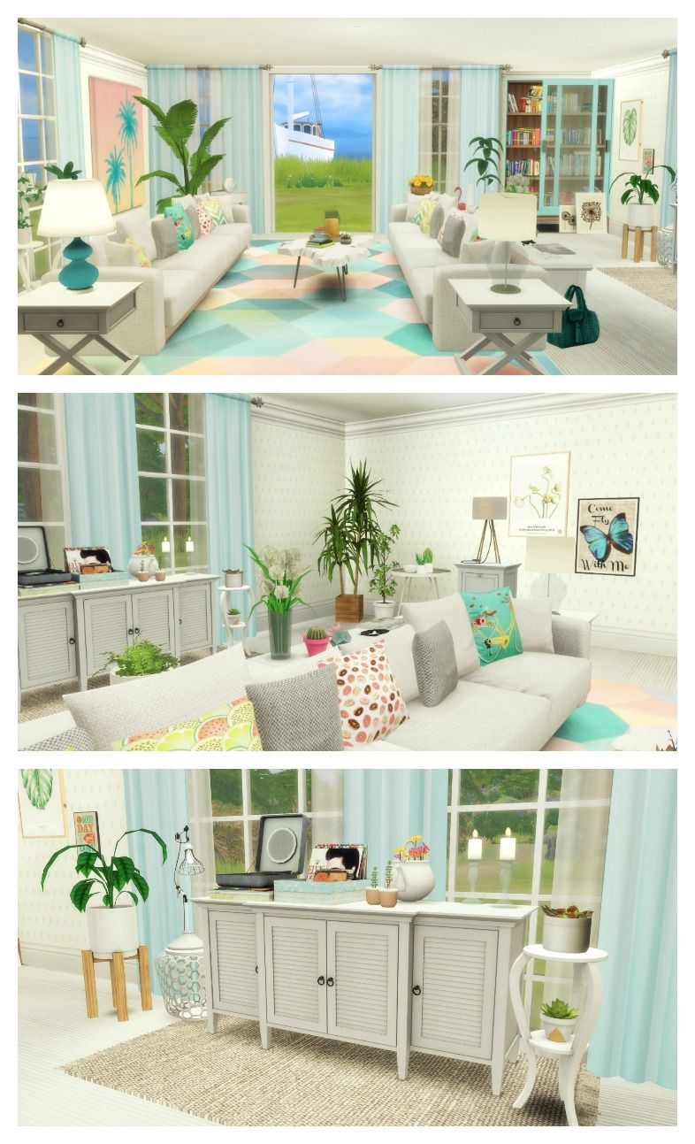 Esszimmer Sims 4 Summer Family Living Room Sims 4 Room Build Sims 4 Cc Sims 4
