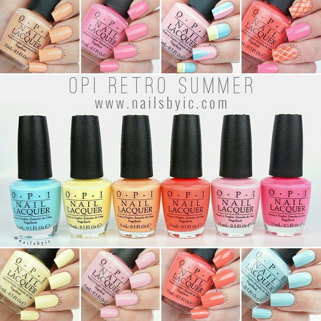 OPI NAIL POLISH ~ RETRO SUMMER COLLECTION 2016 ~~ | Nails ...