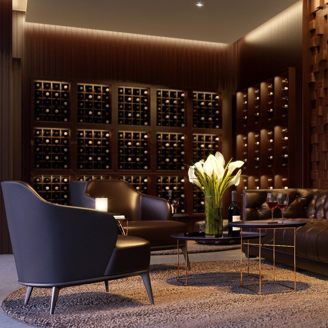 The wine appreciation room at Siskas, where your favourite