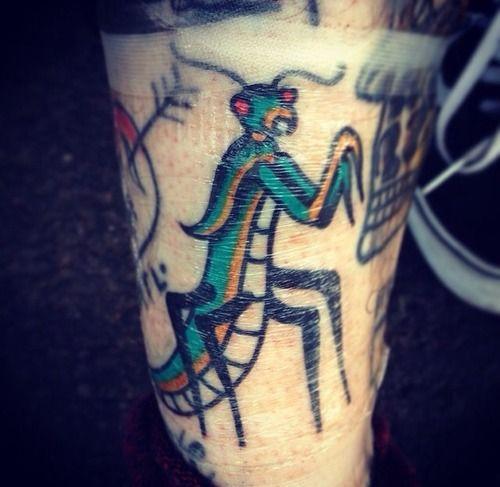 Praying Mantis Old School Tattoo James Matthews Bath Uk Http