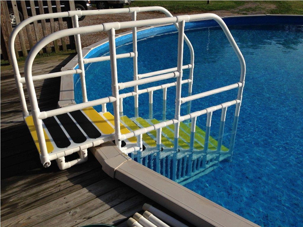 Exterior: DIY Above Ground Pool Stairs Parts From 3 Most Wanted Above  Ground Pool